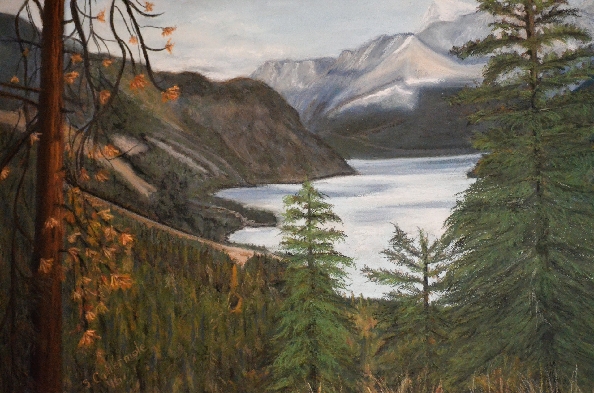 Anderson-Lake - Painting by Sandra Cattermole