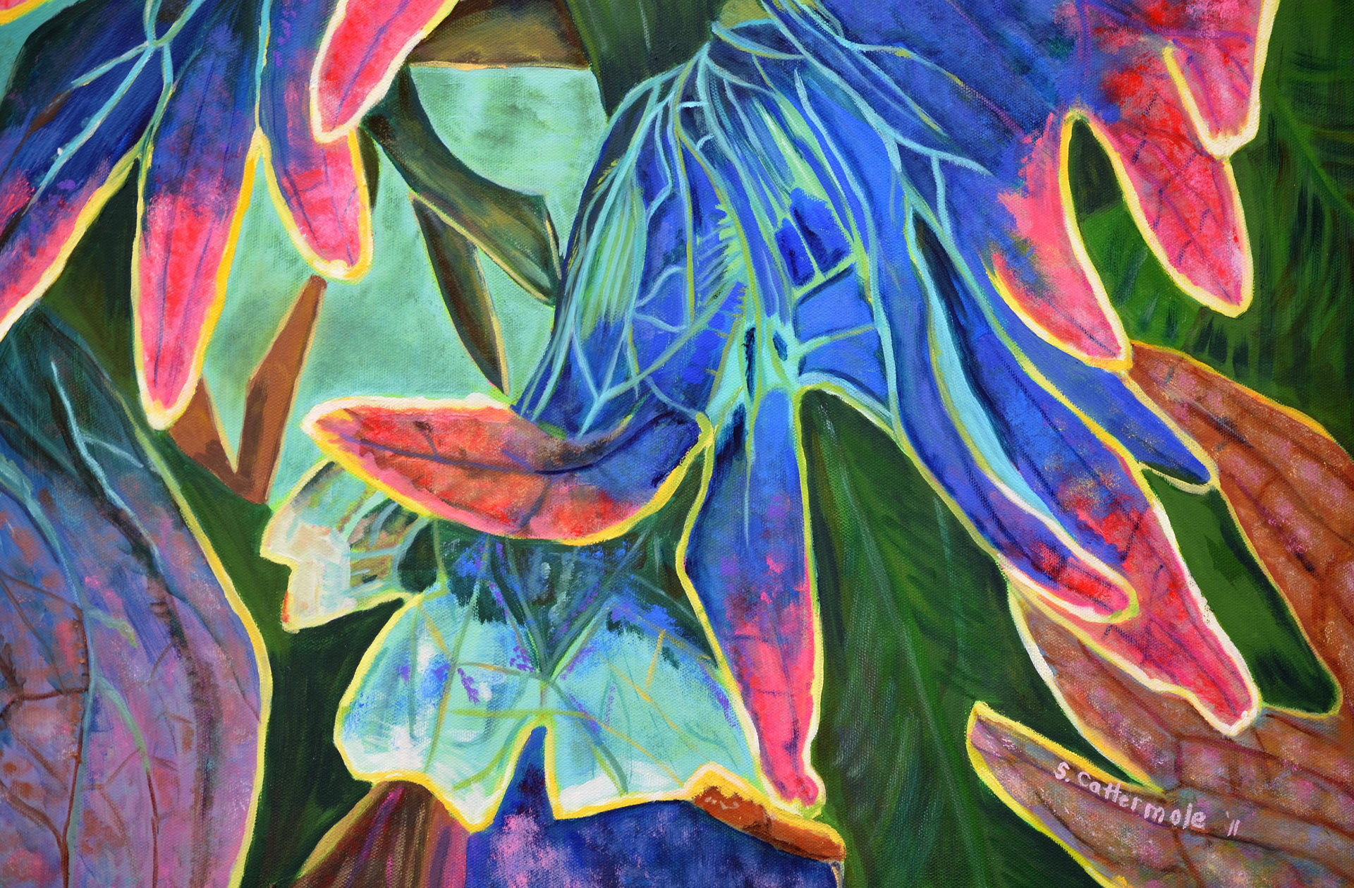 Coleus-I Painting by Sandra Cattermole