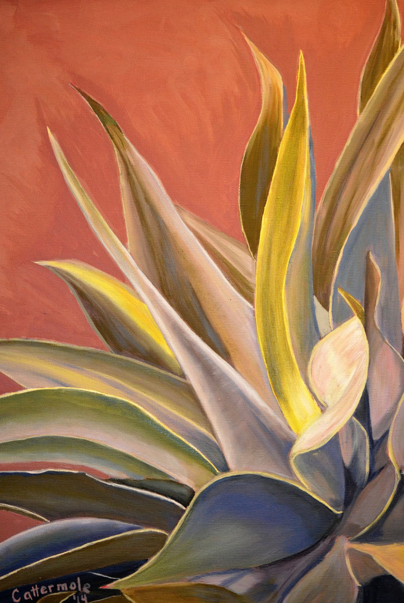 Desert Heat - Painting by Sandra Cattermole
