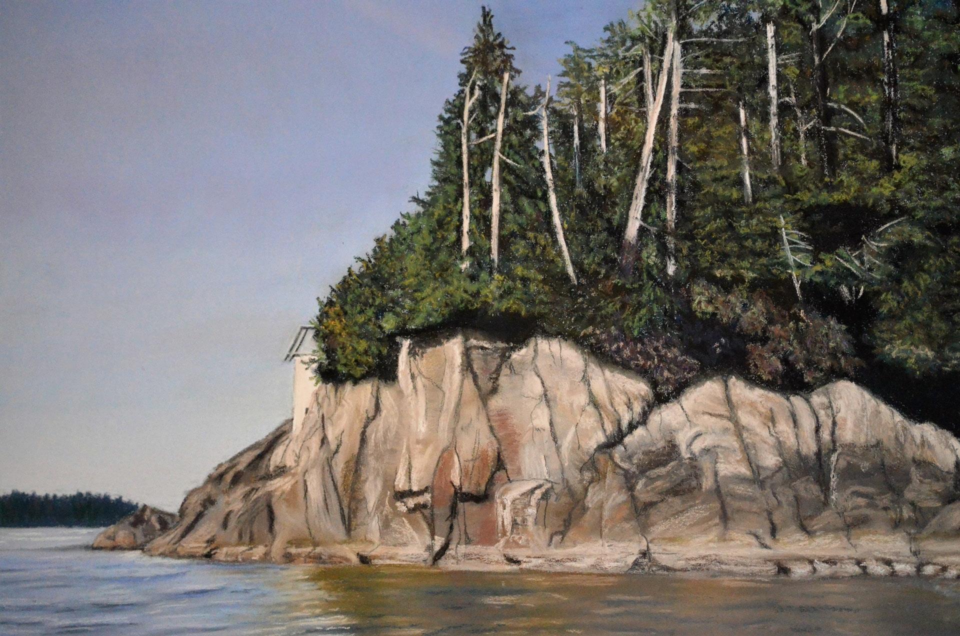 Double-Island,-Esperanza-Inlet - Painting by Sandra Cattermole