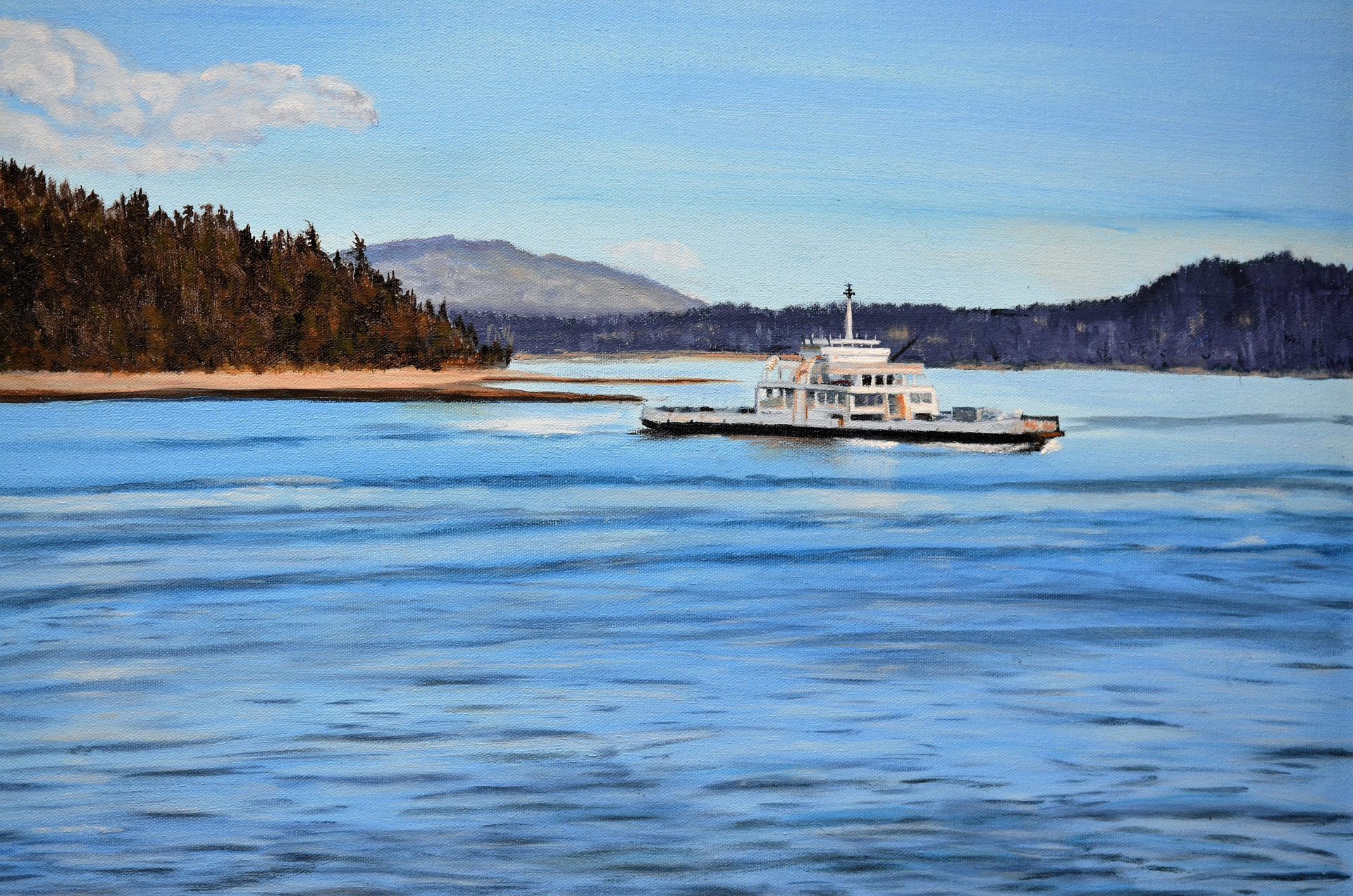Ferry to Bowen Island - Painting by Sandra Cattermole
