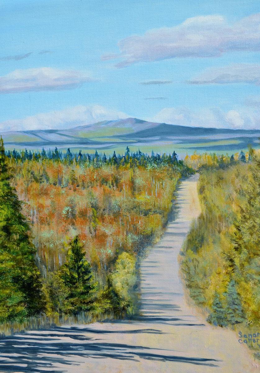 Fletcher Lake Road - Painting by Sandra Cattermole