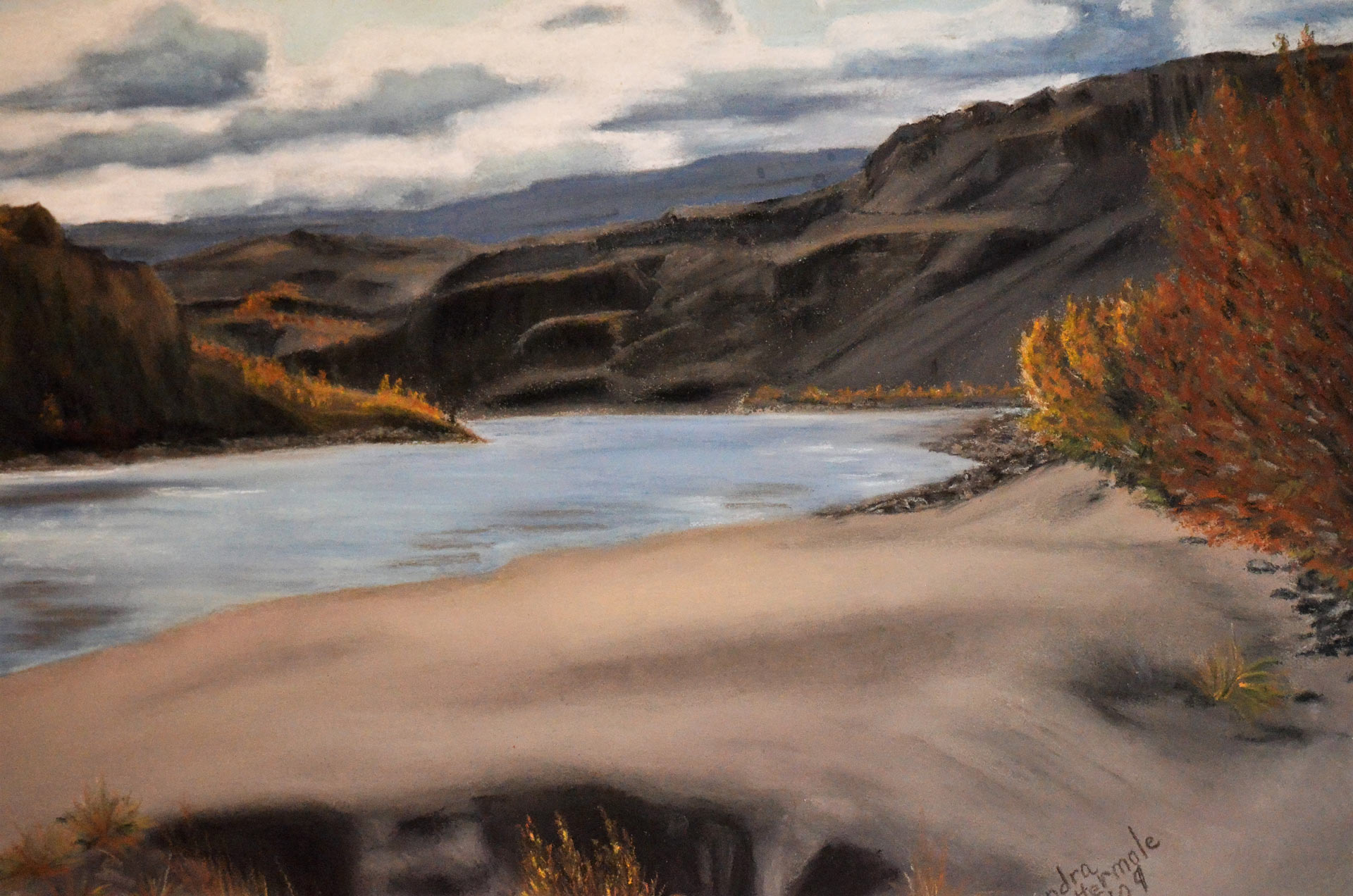 Fraser-River-in-Summer - Painting by Sandra Cattermole