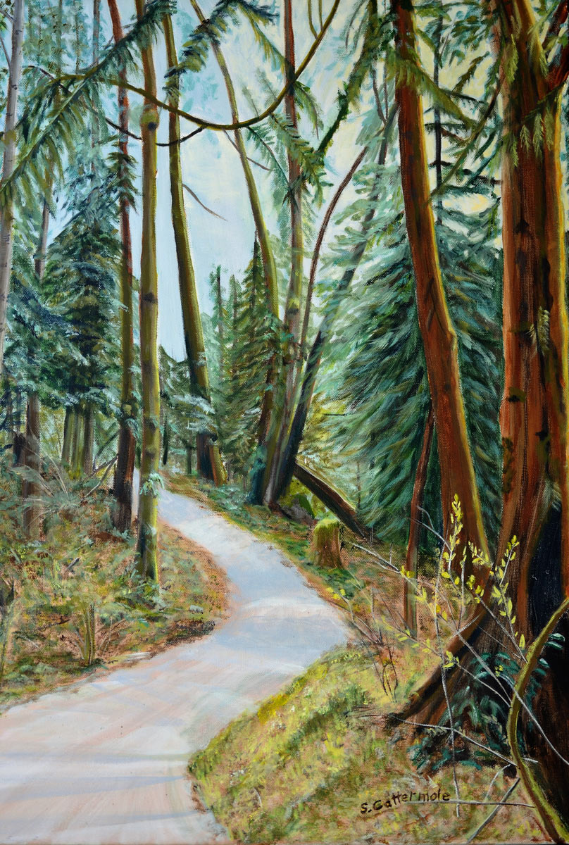 Houston-Trail - Painting by Sandra Cattermole