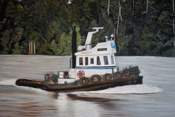 The Jessie-H - Painting by Sandra Cattermole