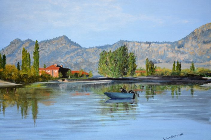 Osoyoos-Vista - Painting by Sandra Cattermole