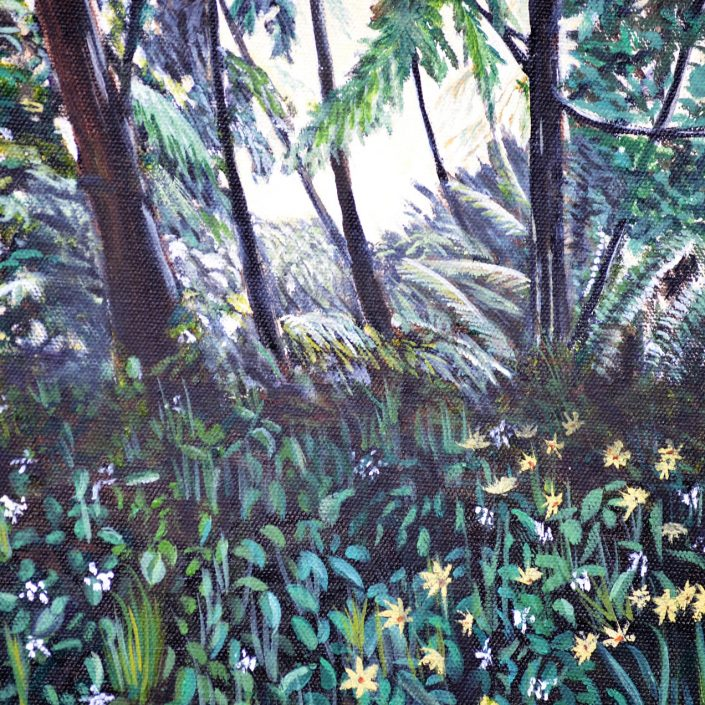 Stars in my Garden - Painting by Sandra Cattermole