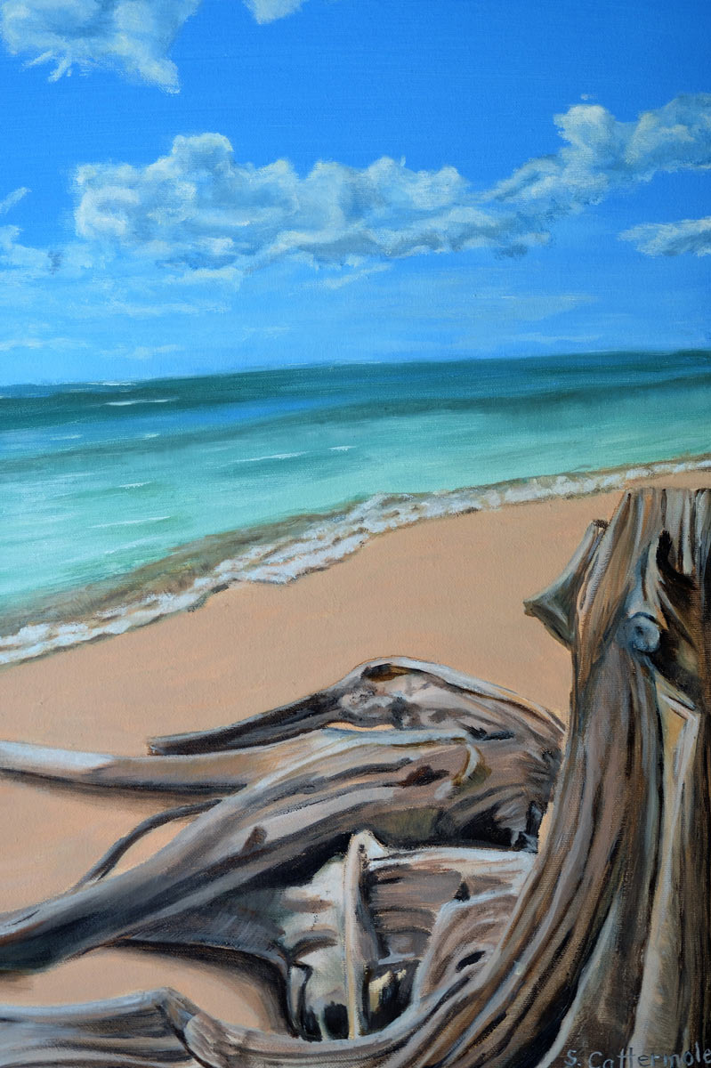 Waiting for the Tide - Painting by Sandra Cattermole