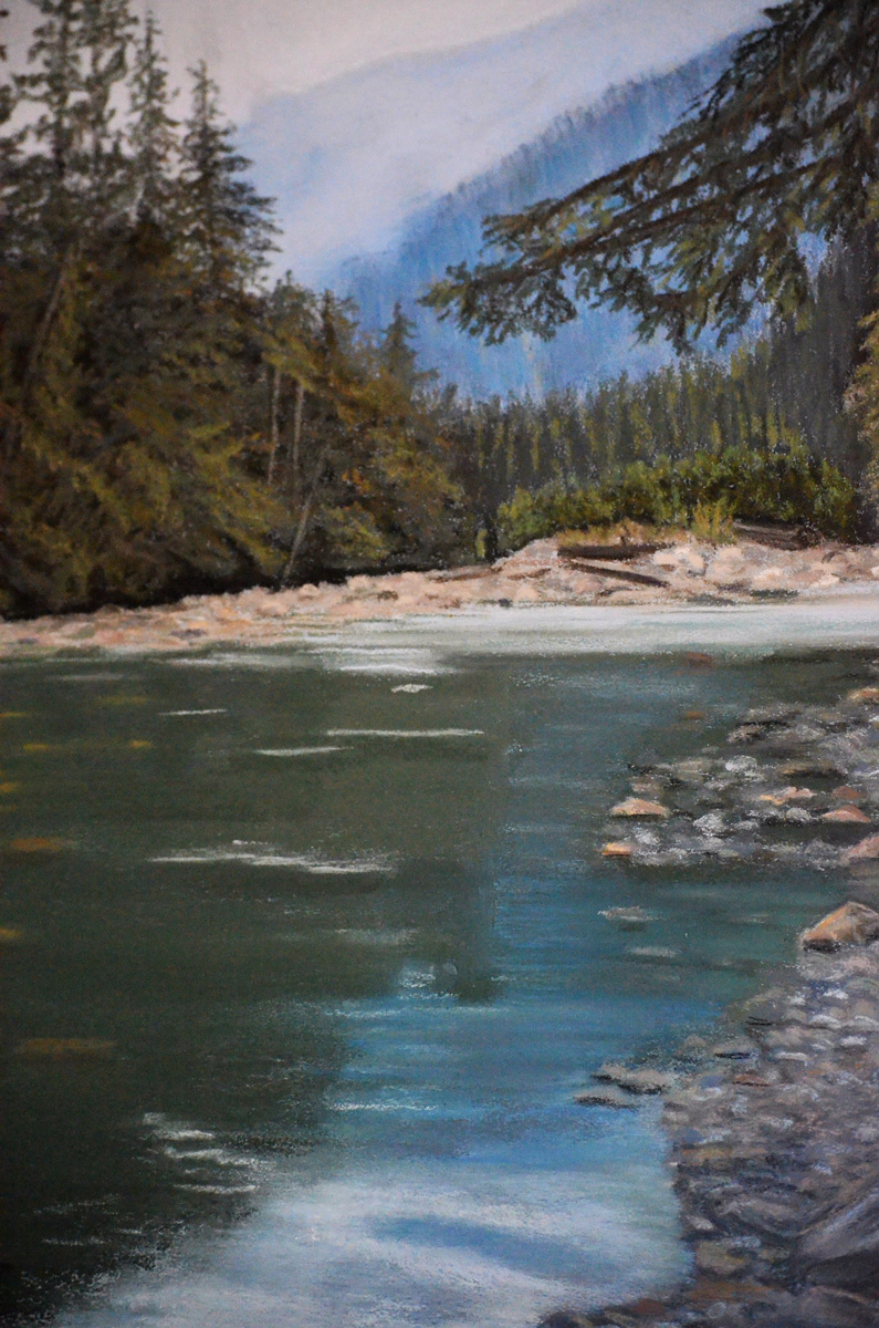Coquihalla-River - Painting by Sandra Cattermole