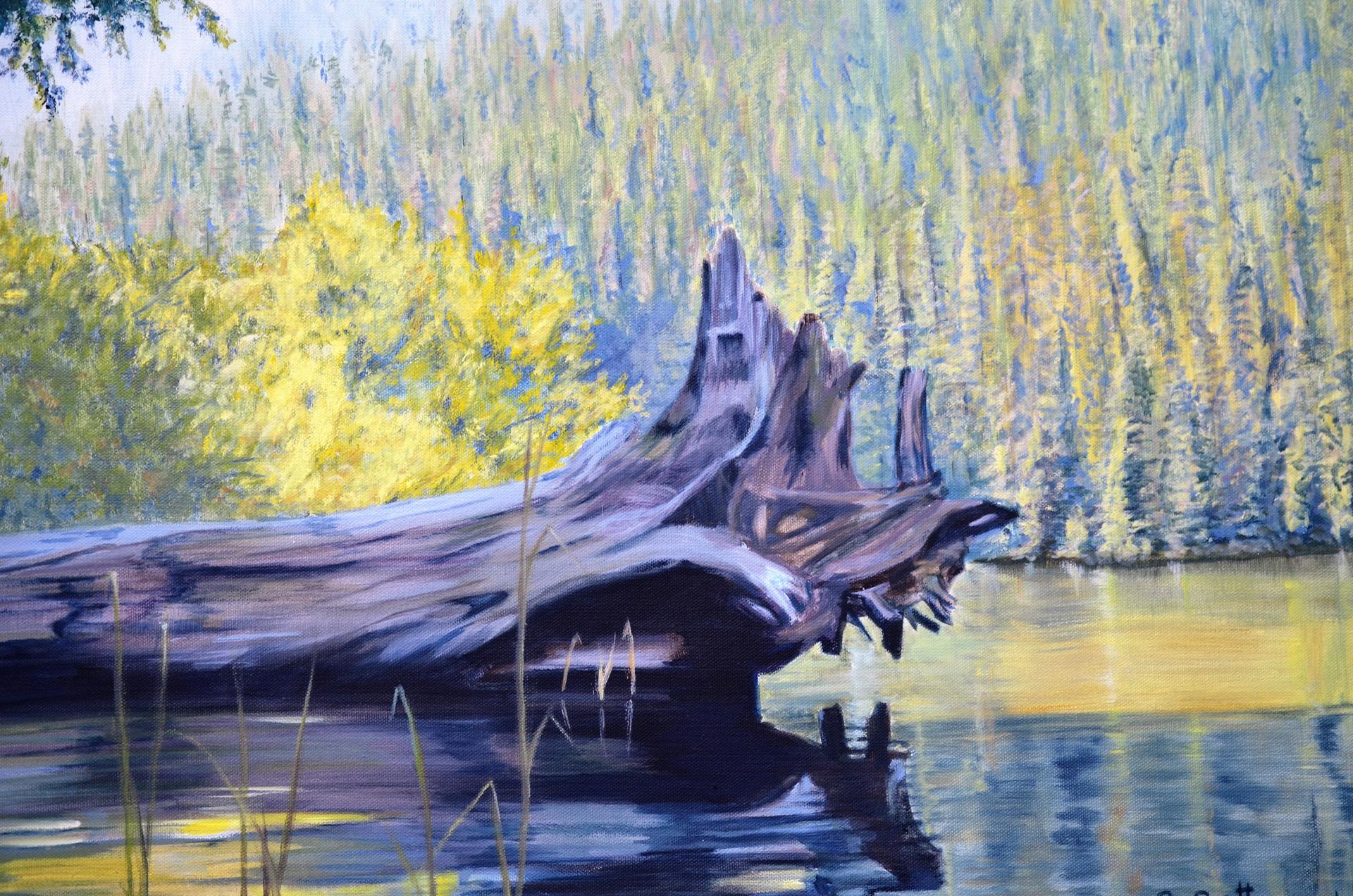 Nahatlatch Lake, B.C - Oil Painting by Sandra Cattermole