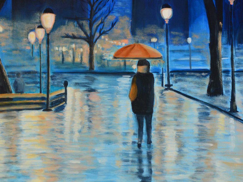 A Solitary Walk - Paris