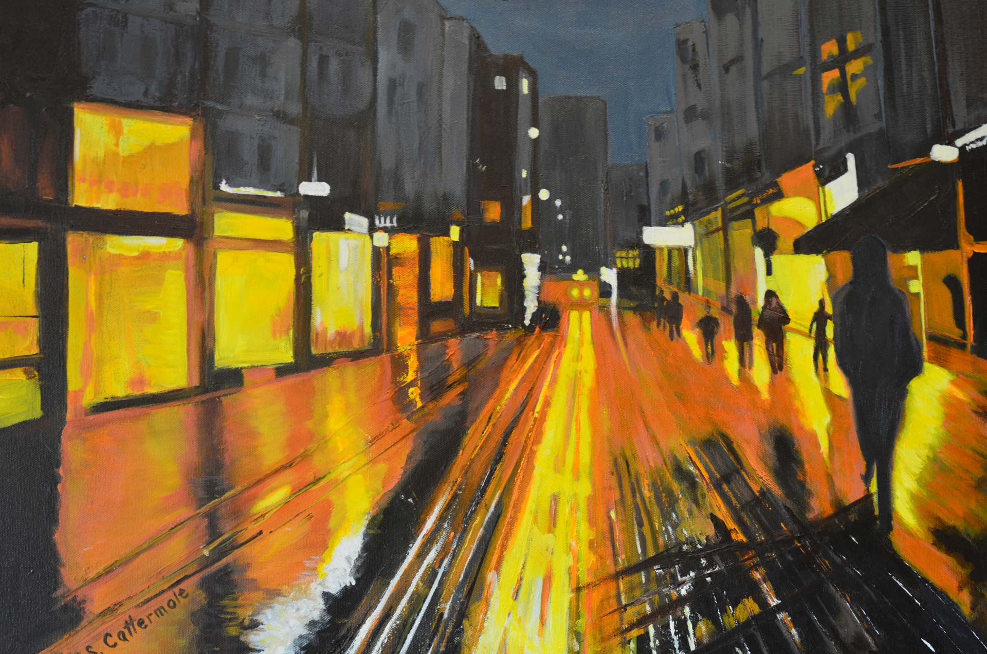 End of Day (Paris) Oil on Canvas by Artist Sandra Cattermole