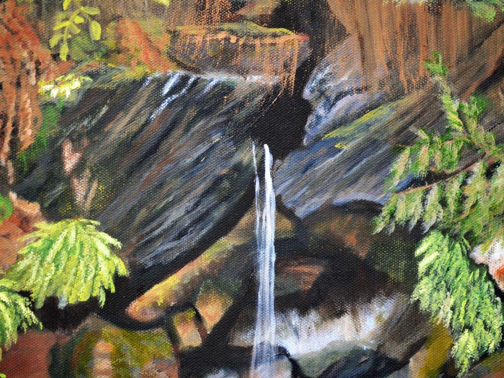 Jones Lake Waterfall